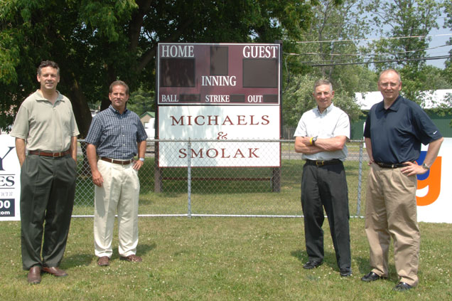Michaels & Smolak Trial Lawyers purchased the score board for Auburn Little League