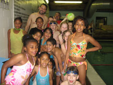 Boys & Girls Club at the swimming pool